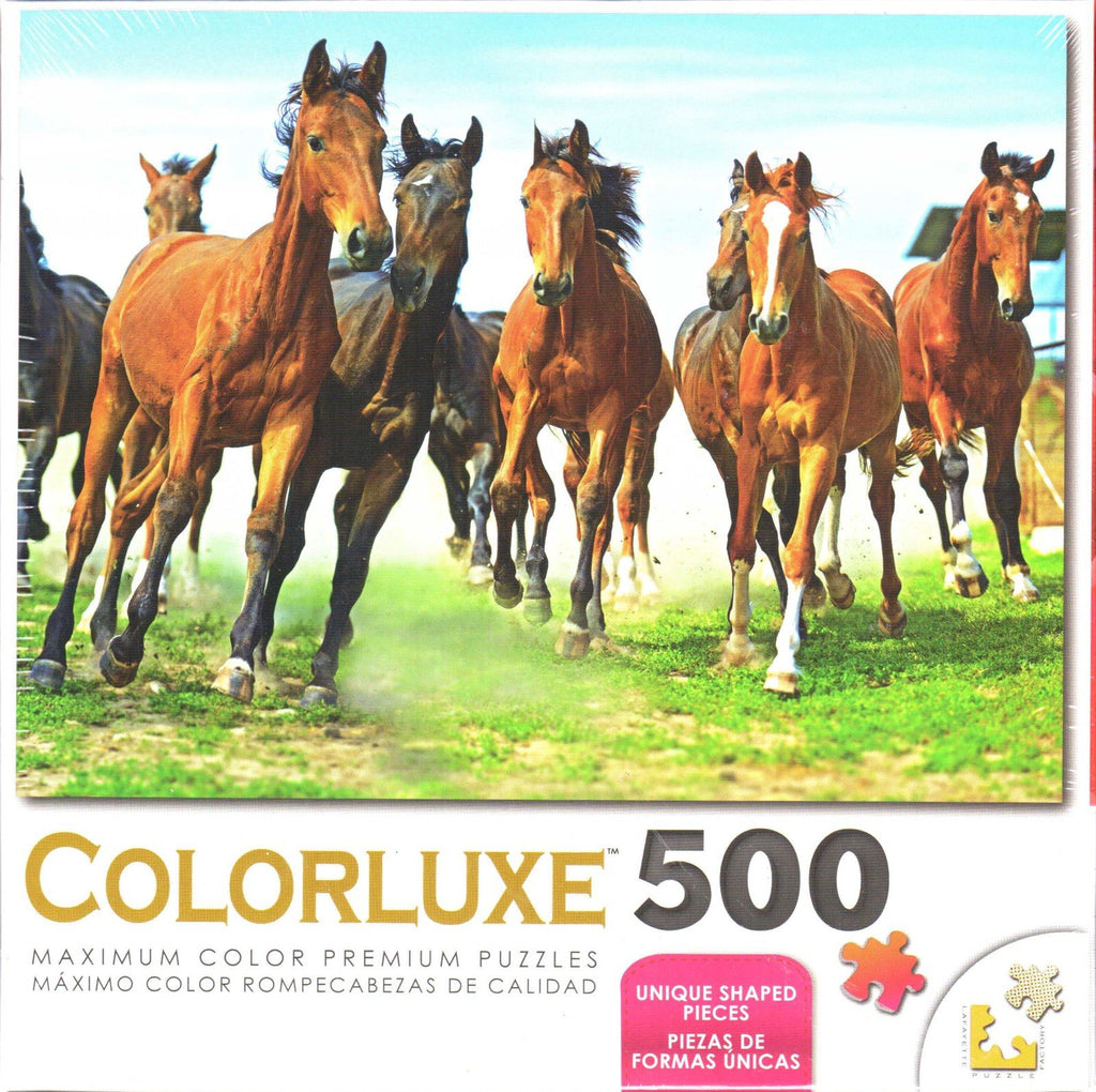 Colorluxe 500 Piece Puzzle - Wild Run