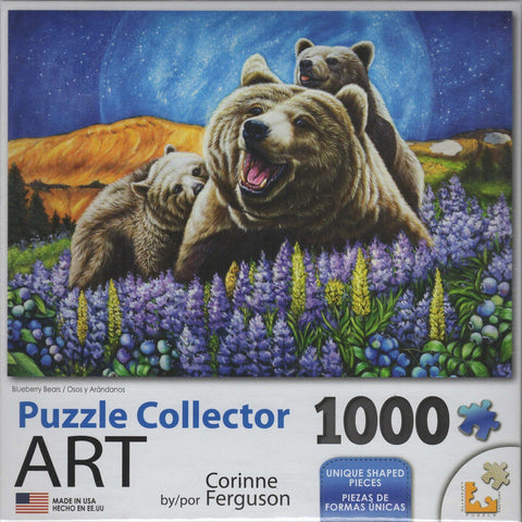 Puzzle Collector Art 1000 Piece Puzzle - Blueberry Bears