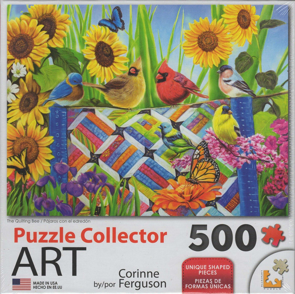 Puzzle Collector Art 500 Piece Puzzle - The Quilting Bee