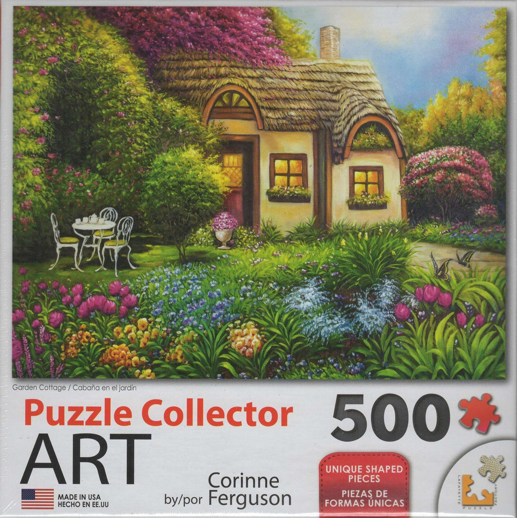 Puzzle Collector Art 500 Piece Puzzle - Garden Cottage