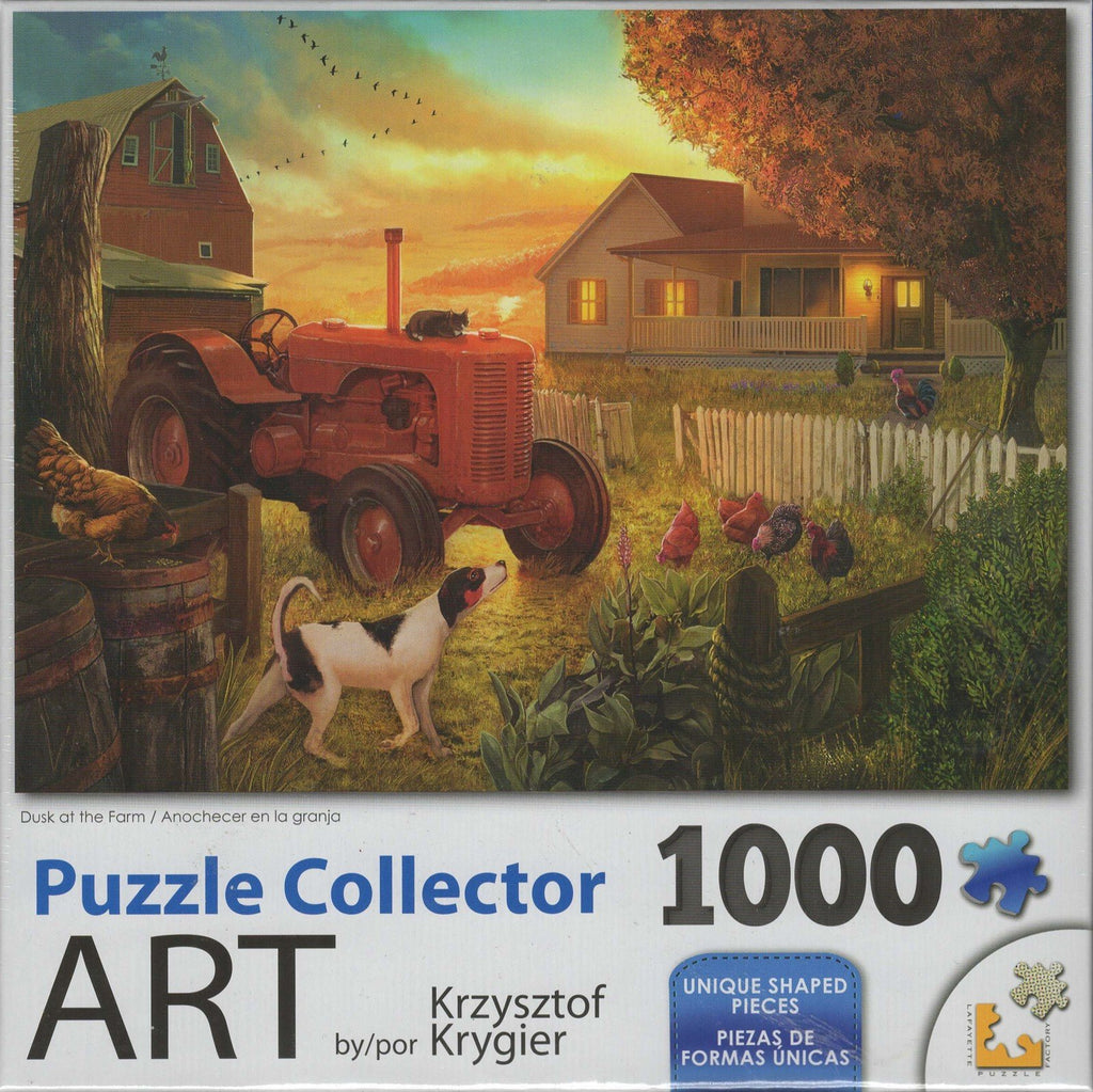 Puzzle Collector Art 1000 Piece Puzzle - Dusk at the Farm