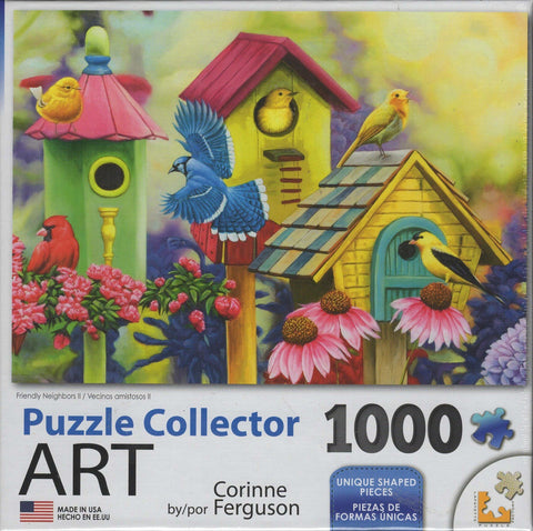 Puzzle Collector Art 1000 Piece Puzzle - Friendly Neighbors II