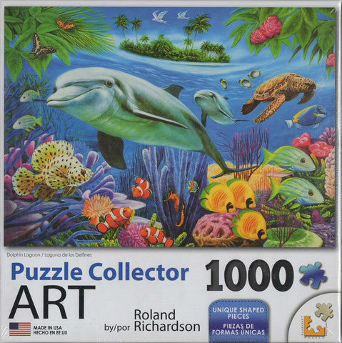 Puzzle Collector Art 1000 Piece Puzzle - Dolphin Lagoon