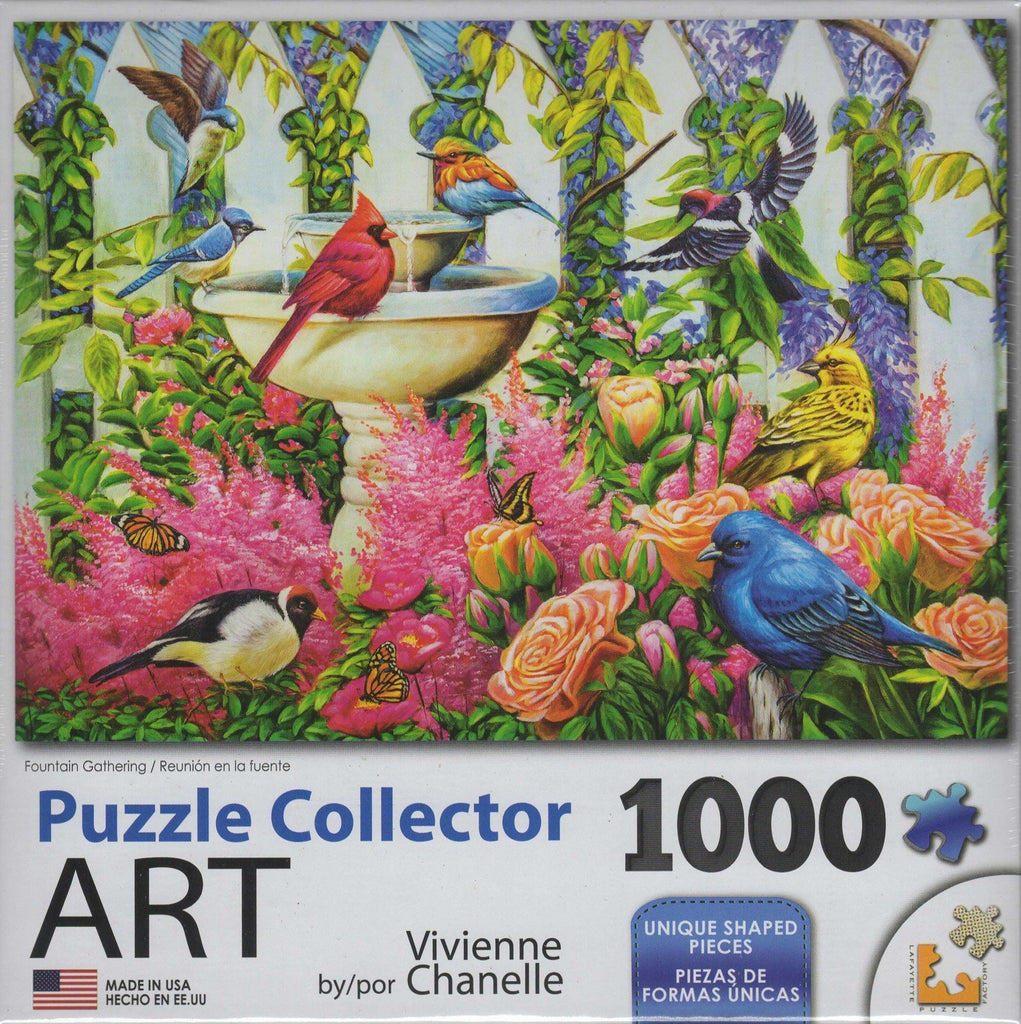 Puzzle Collector Art 1000 Piece Puzzle - Fountain Gathering