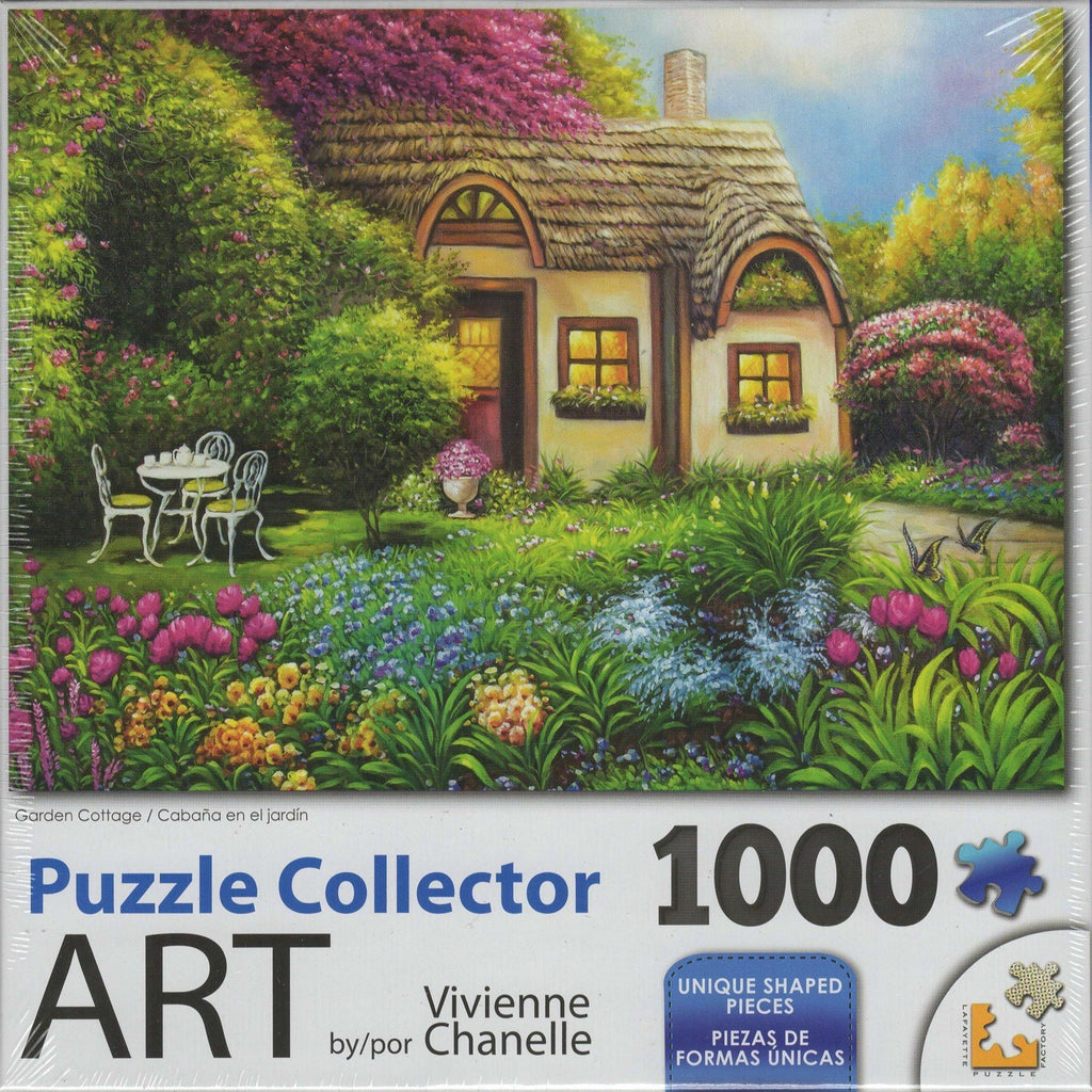 Puzzle Collector Art 1000 Piece Puzzle - Garden Cottage