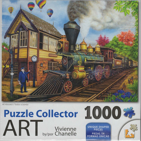 Puzzle Collector Art 1000 Piece Puzzle - All Aboard