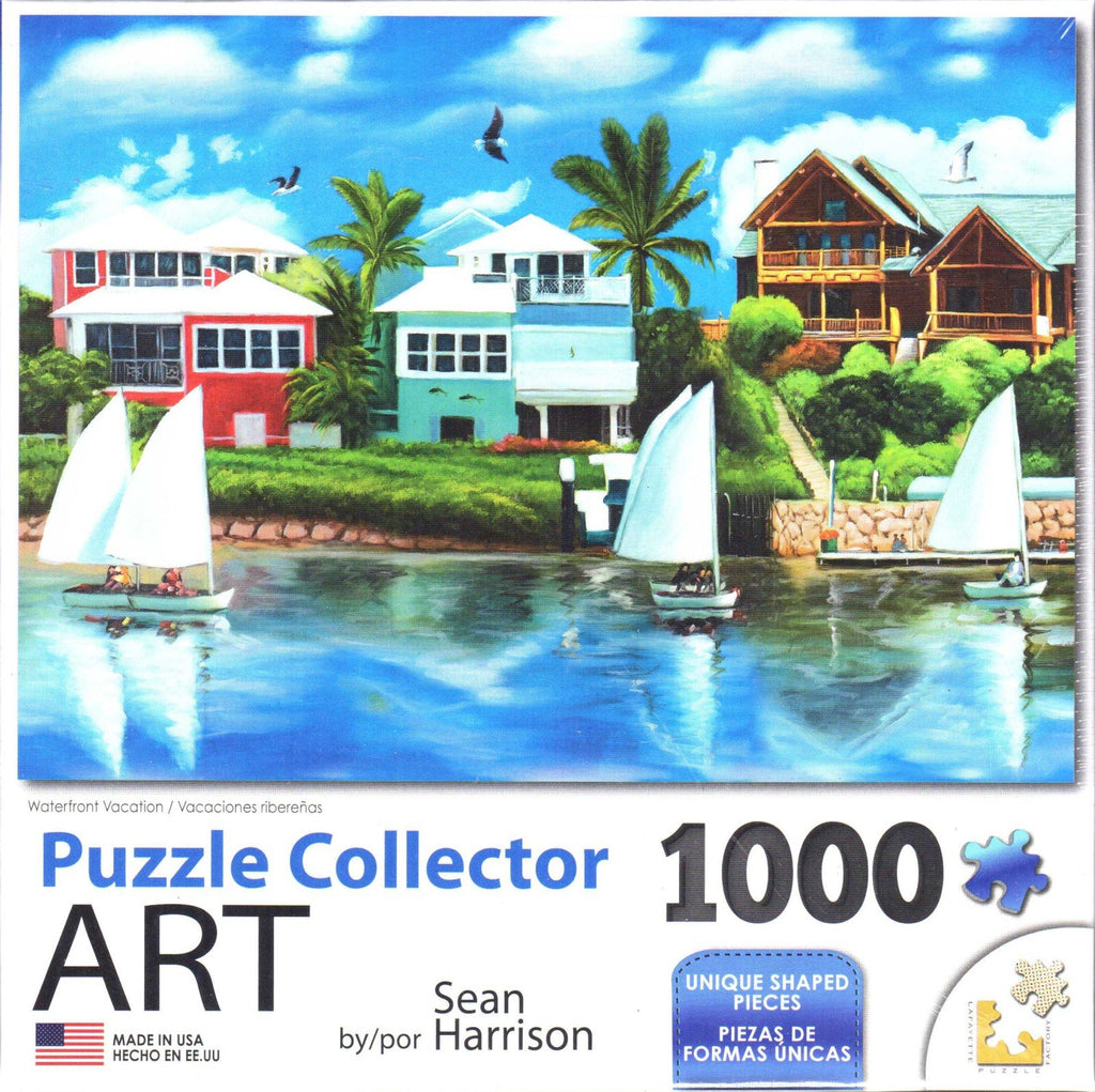 Puzzle Collector Art 1000 Piece Puzzle - Waterfront Vacation
