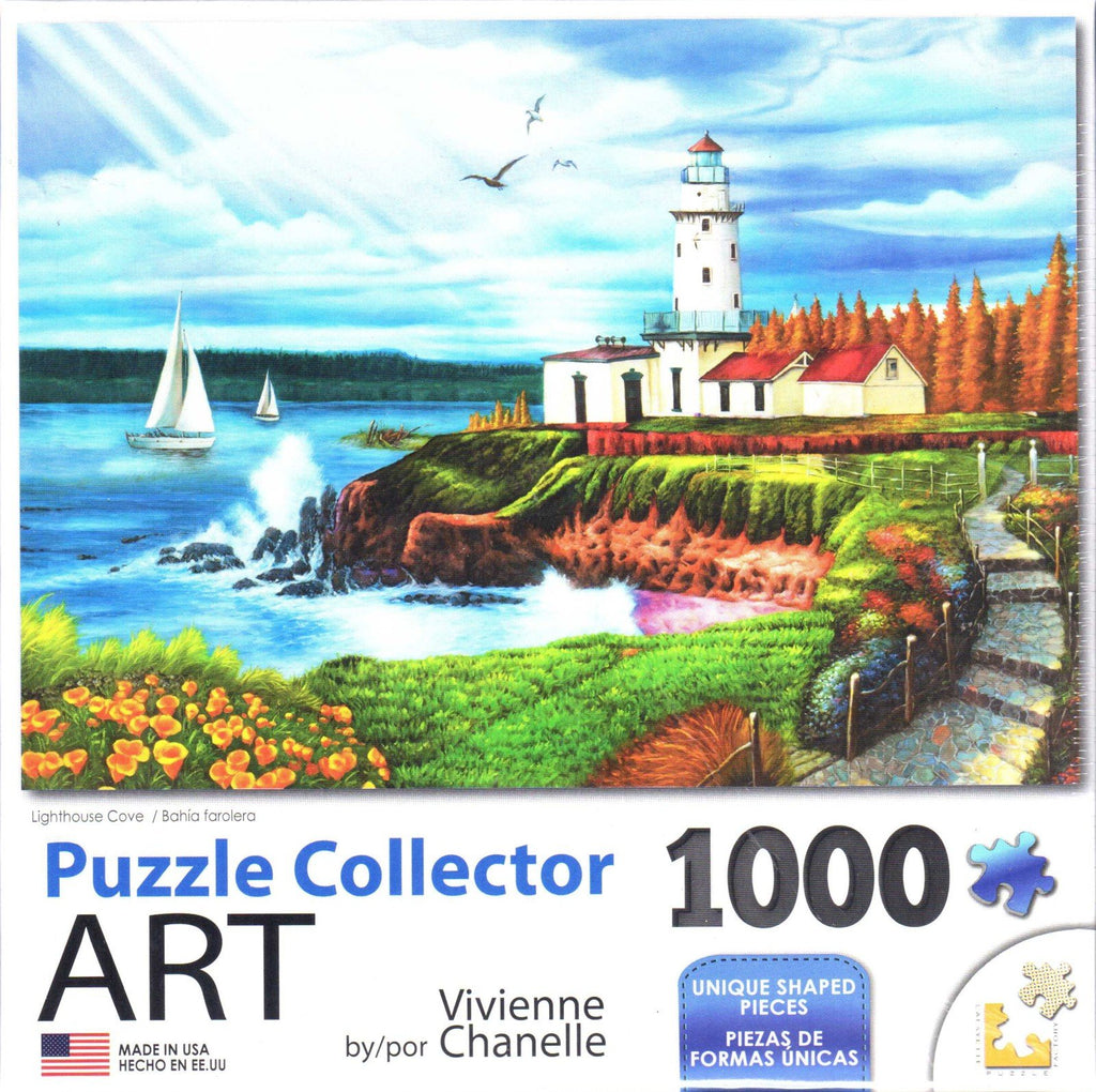 Puzzle Collector Art 1000 Piece Puzzle - Lighthouse Cove