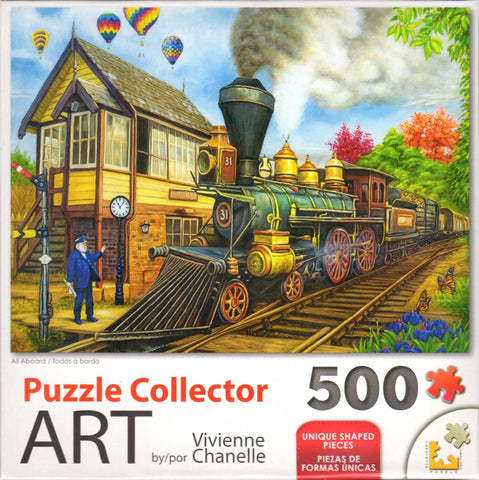 Puzzle Collector Art 500 Piece Puzzle - All Aboard