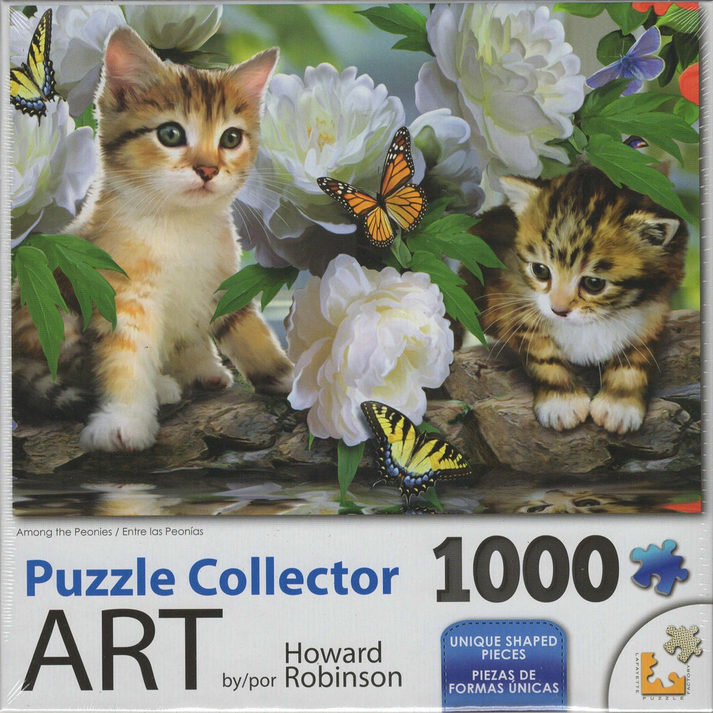 Puzzle Collector Art 1000 Piece Puzzle - Among the Peonies