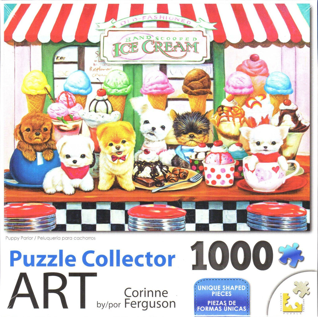 Puzzle Collector Art 1000 Piece Puzzle - Puppy Palor