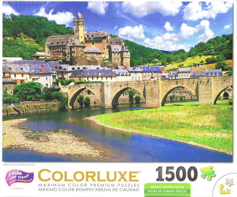 Colorluxe 1500 Piece Puzzle - Estaing France