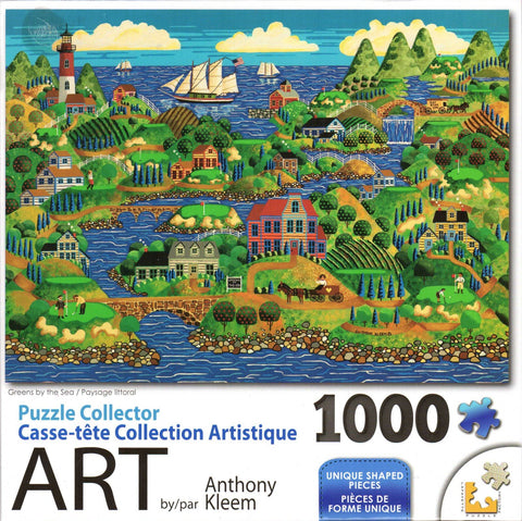 Puzzle Collector Art 1000 Piece Puzzle - Greens by the Sea