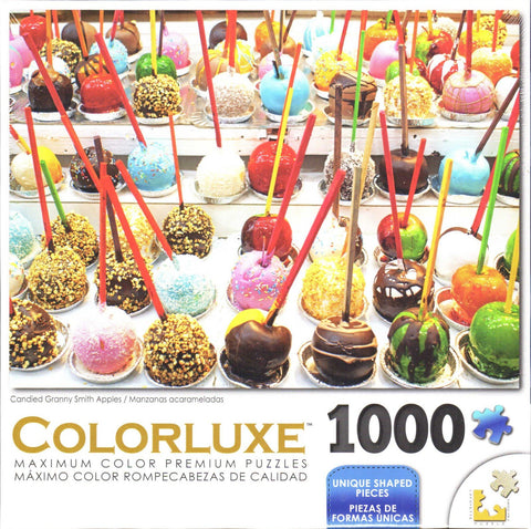 Colorluxe 1000 Piece Puzzle - Candied Granny Smith Apples