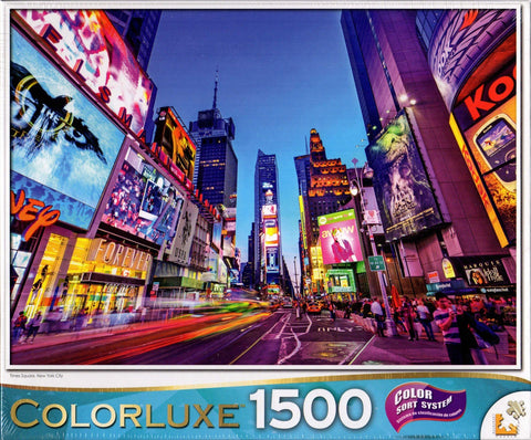 Colorluxe 1500 Piece Puzzle - Times Square New York City