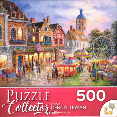 Puzzle Collector Art 500 Piece Puzzle - Beary Patch Park