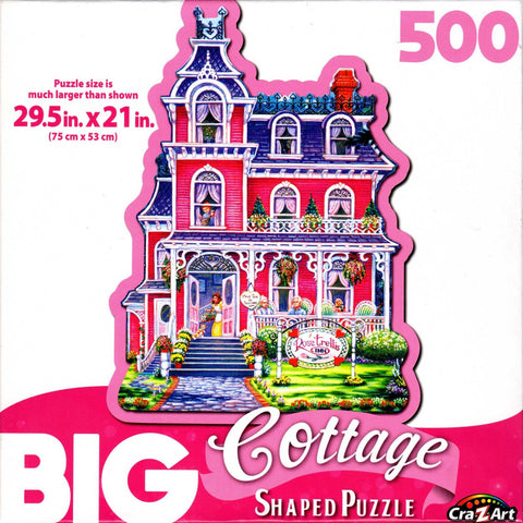 Big Cottage Shaped 500 Piece Puzzle