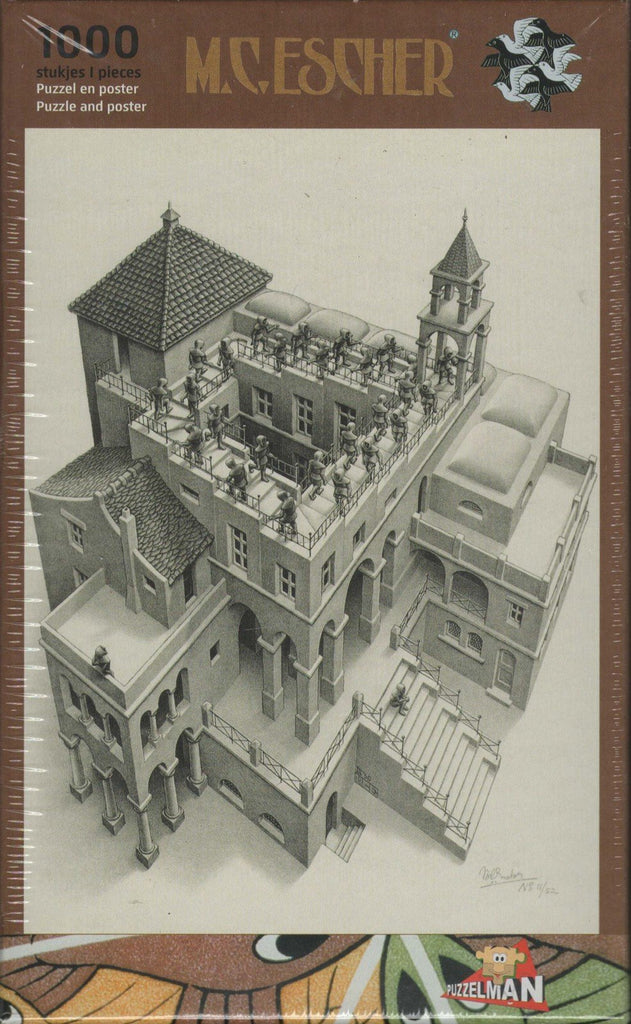 Puzzleman 1000 Piece Puzzle - Ascending and Descending By MC Escher