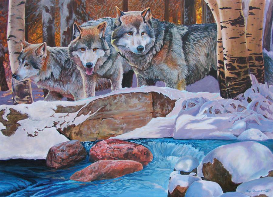 Winter Wolves 1000 Piece Puzzle