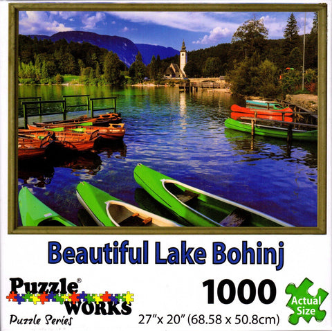 Beautiful Lake Bohinj 1000 Piece Puzzle