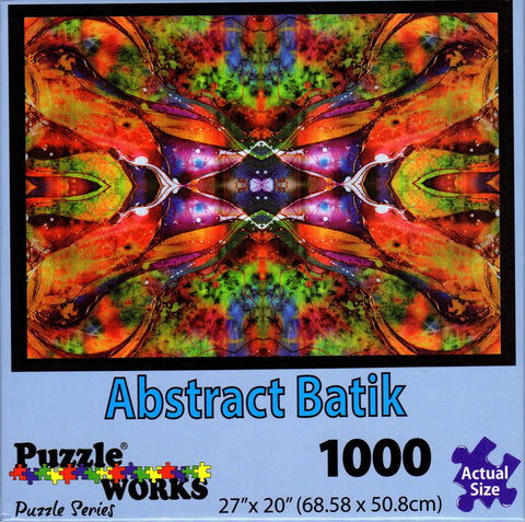 Abstract Batik 1000 Piece Puzzle