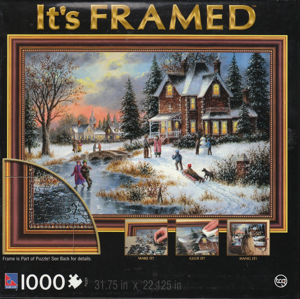 Glow of Winter Lights 1000 Piece It's Framed Puzzle