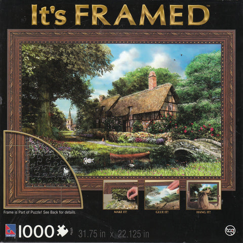 Alder River Cottage 1000 Piece It's Framed Puzzle