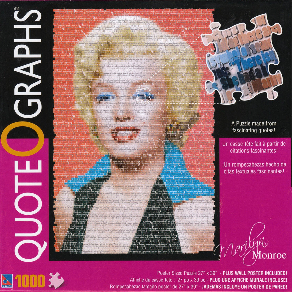 Marilyn Monroe Quotes 1000 Piece Puzzle