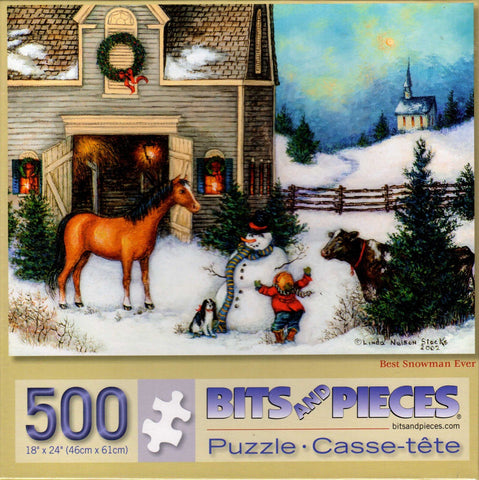 Best Snowman Ever 500 Piece Puzzle