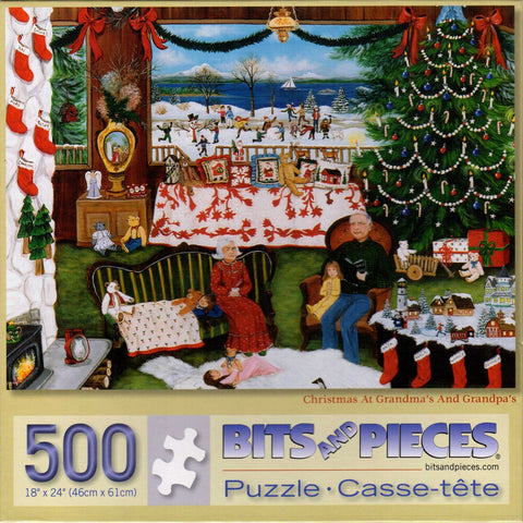 Christmas at Grandma's and Grandpa's 500 Piece Puzzle