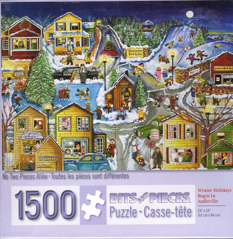 Winter Holidays Begin in Judleville 1500 Piece Puzzle
