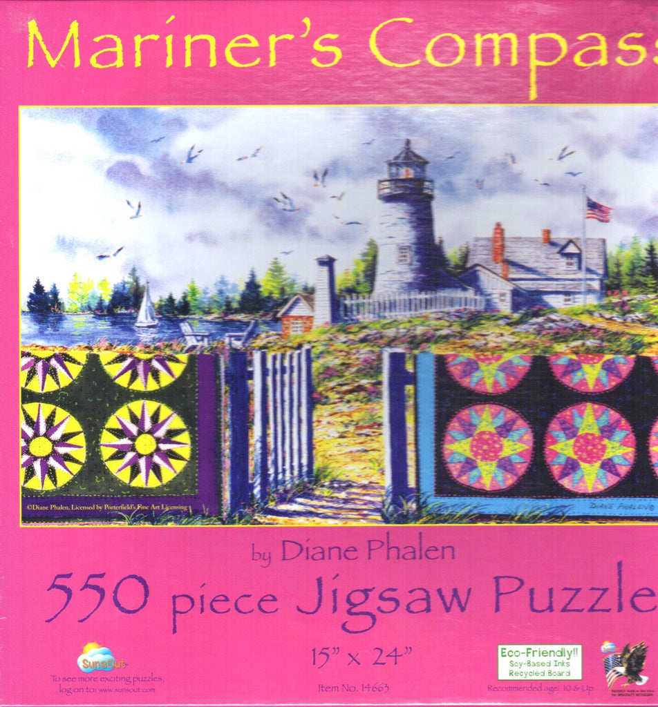 Mariner's Compass 550 Piece Puzzle
