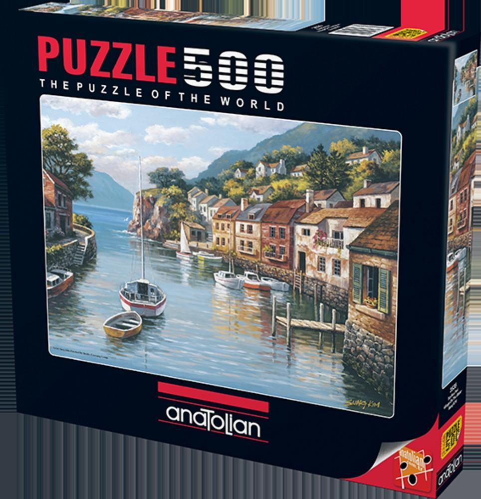 Anatolian Puzzle 500 Piece - Village On The Water