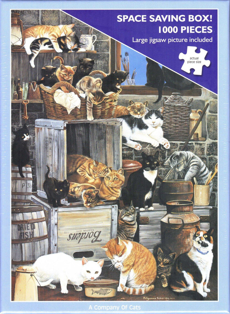Otter House 1000 Piece Puzzle - A Company Of Cats