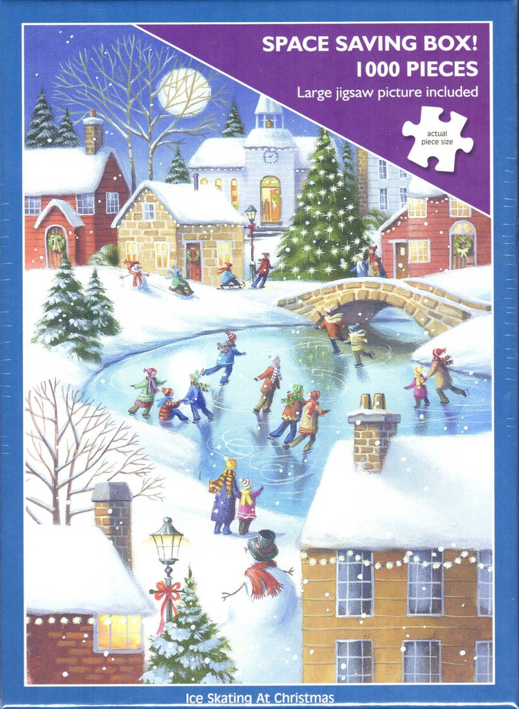 Otter House 1000 Piece Puzzle - Ice Skating At Christmas