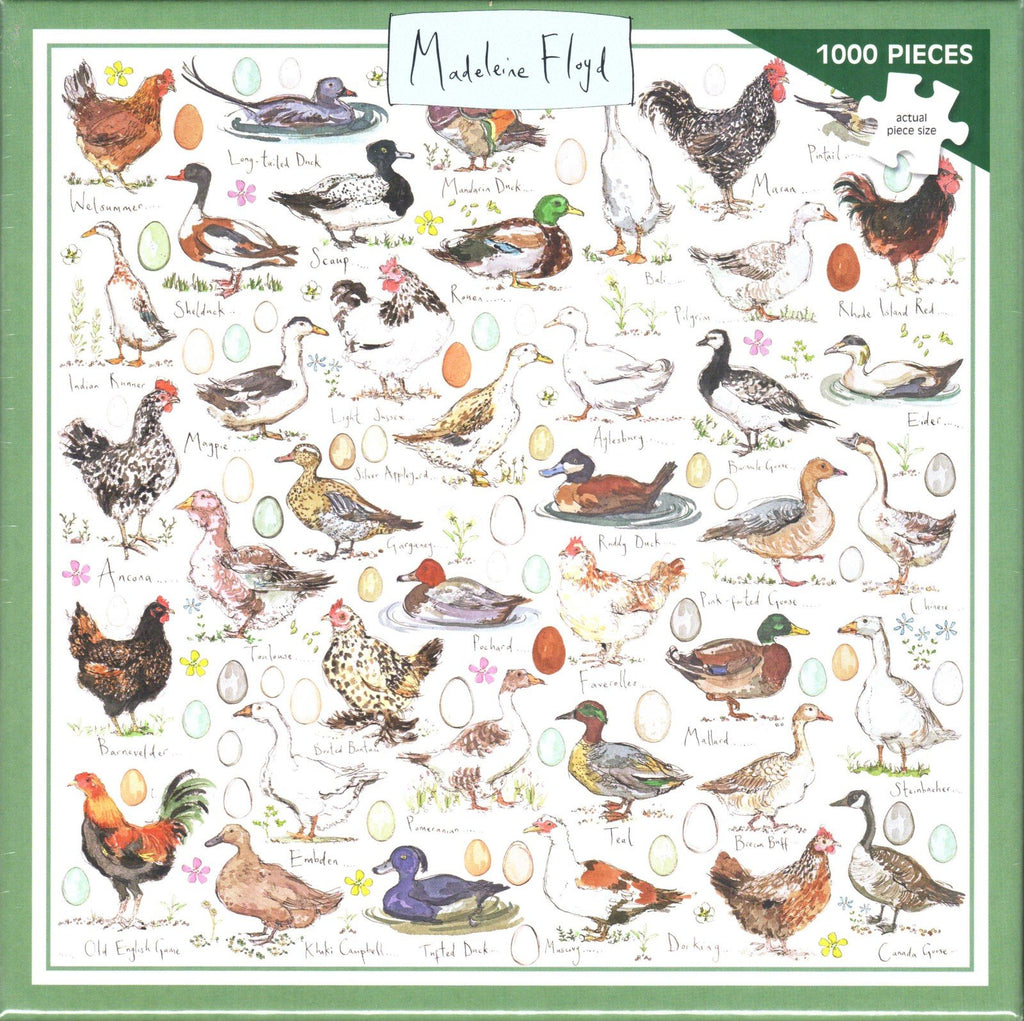 Otter House 1000 Piece Puzzle - Chickens, Ducks and Geese
