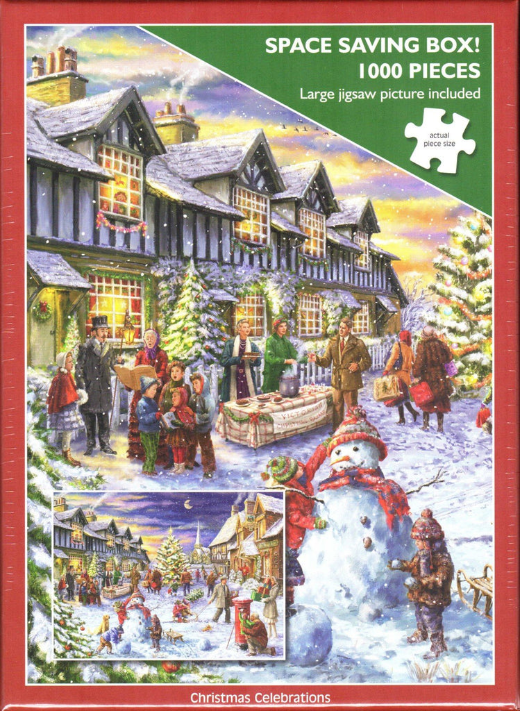 Otter House 1000 Piece Puzzle - Christmas Celebrations