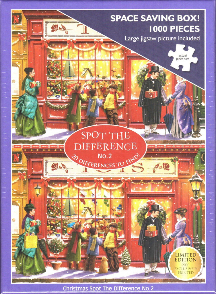 Otter House 1000 Piece Puzzle - Christmas Spot The Difference No.2