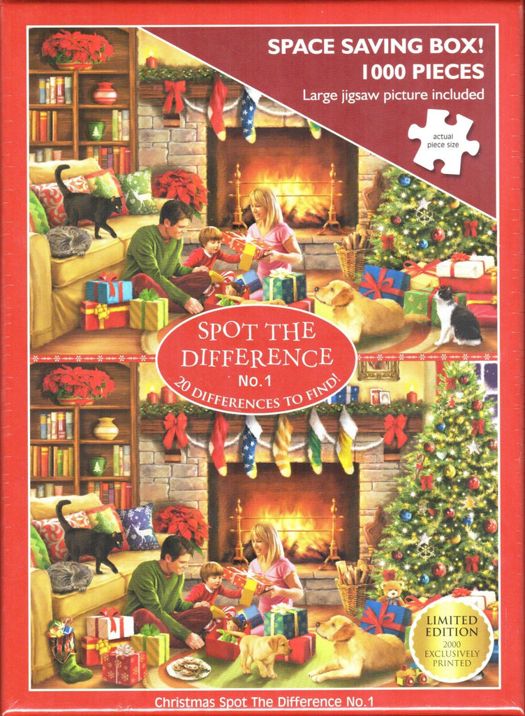 Otter House 1000 Piece Puzzle - Christmas Spot The Difference No.1