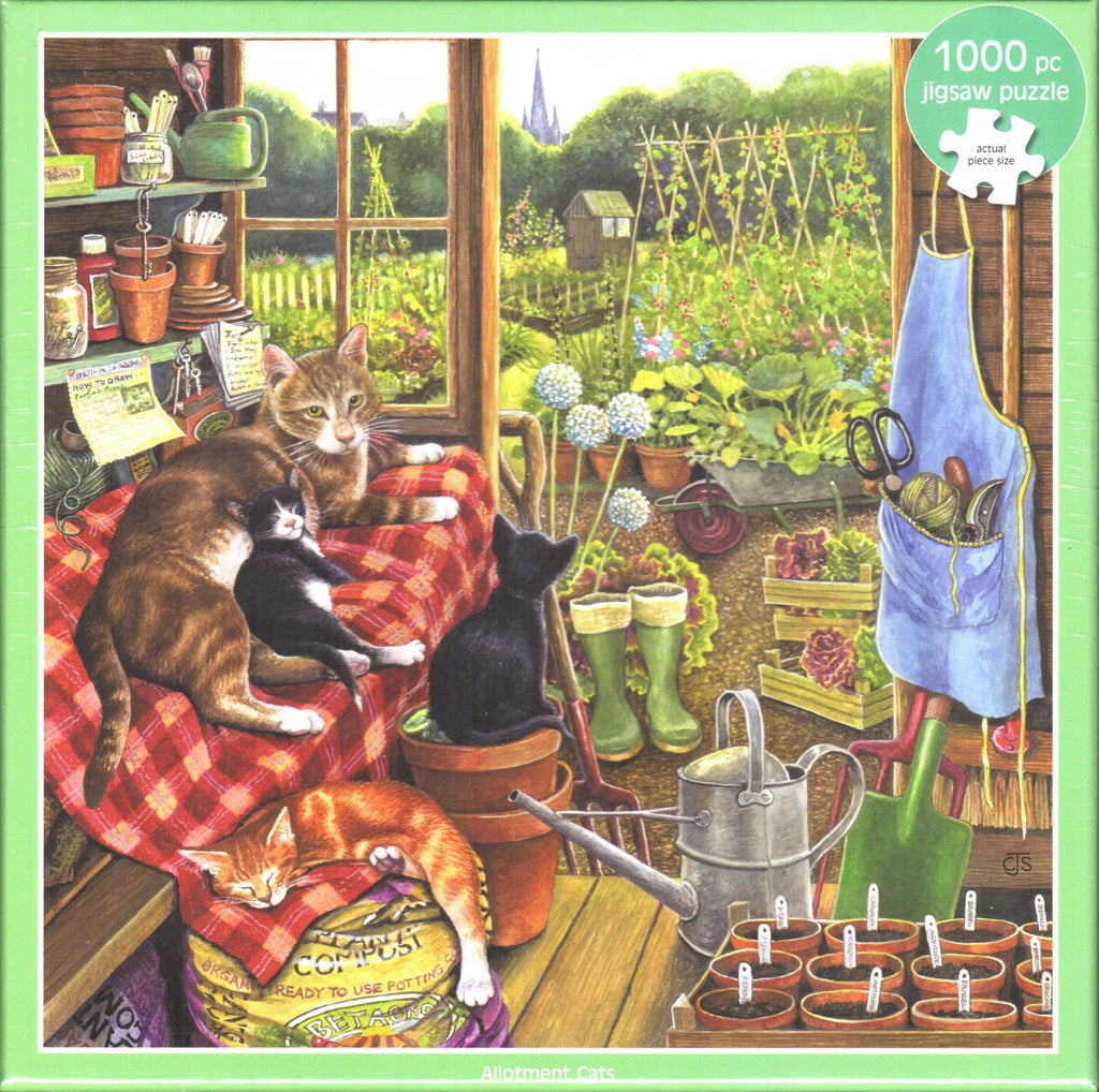 Otter House 1000 Piece Puzzle - Allotment Cats
