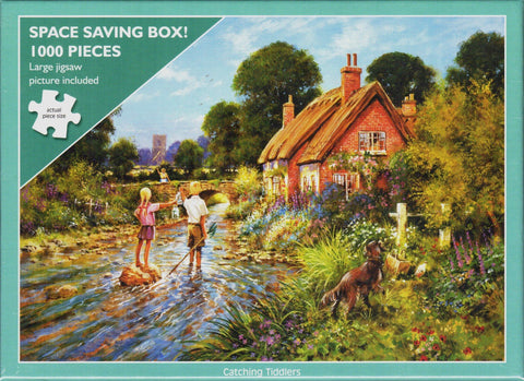 Otter House 1000 Piece Puzzle - Catching Tiddlers