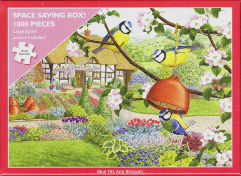 Otter House 1000 Piece Puzzle - Blue Tits And Blossom