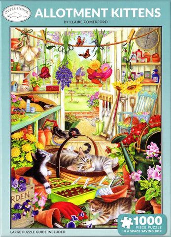 Otter House 1000 Piece Puzzle - Allotment Kittens
