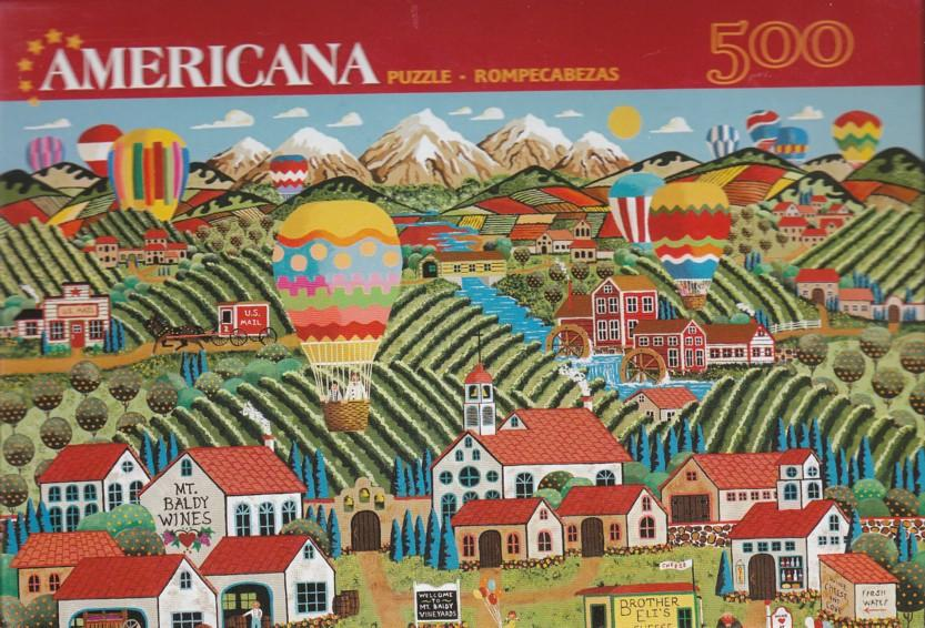 Americana Puzzle - Winery At Mt. Baldy 500 Pc