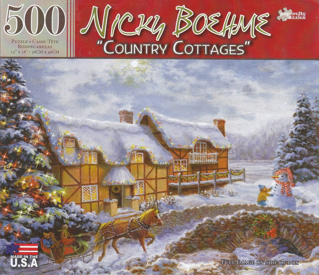 Country Cottages By Nicky Boehme 500 Piece Puzzle