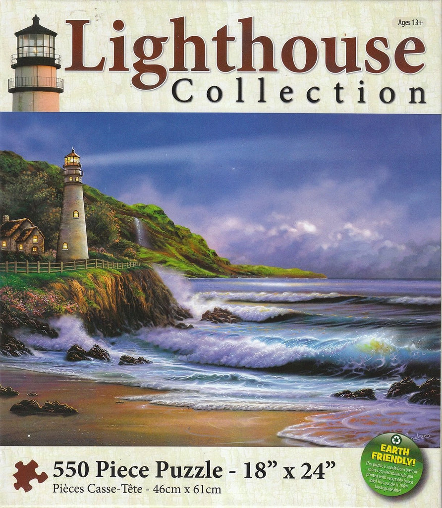 Blue Lighthouse 550 Piece Puzzle