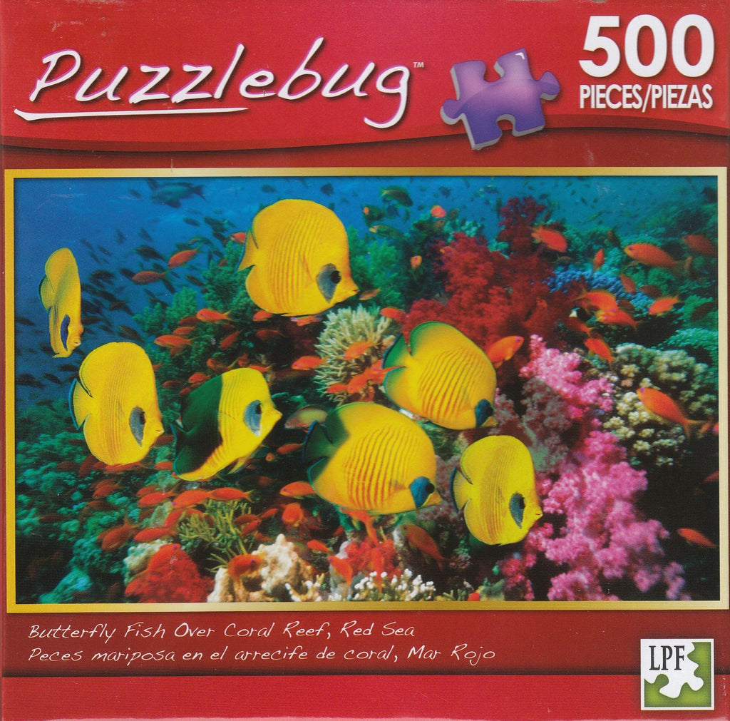 Puzzlebug 500 - Butterfly Fish, Coral Reef