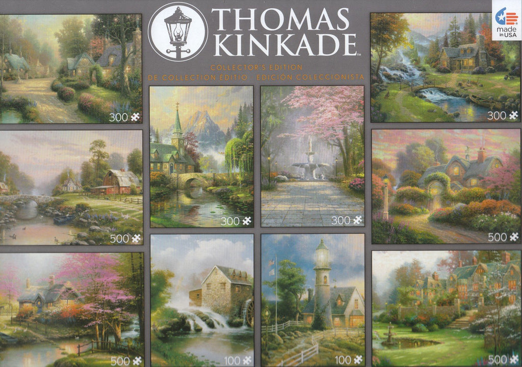 Thomas Kinkade 10 Puzzle Pack: Blessing, Light, Dogwood