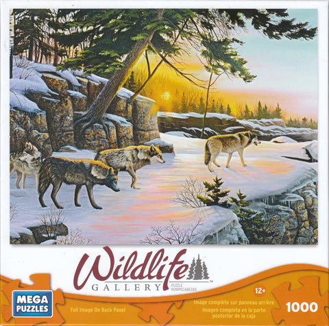 Wolf On The Bluff 1000 Piece Puzzle