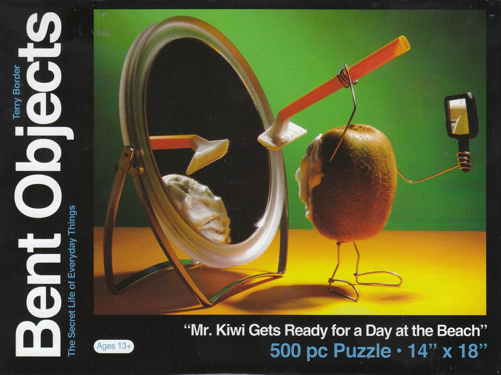 Bent Objects: Mr. Kiwi Gets Ready for a Day at the Beach 500 Piece Puzzle